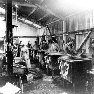 Leamington Spa.  Flavel's, factory interior