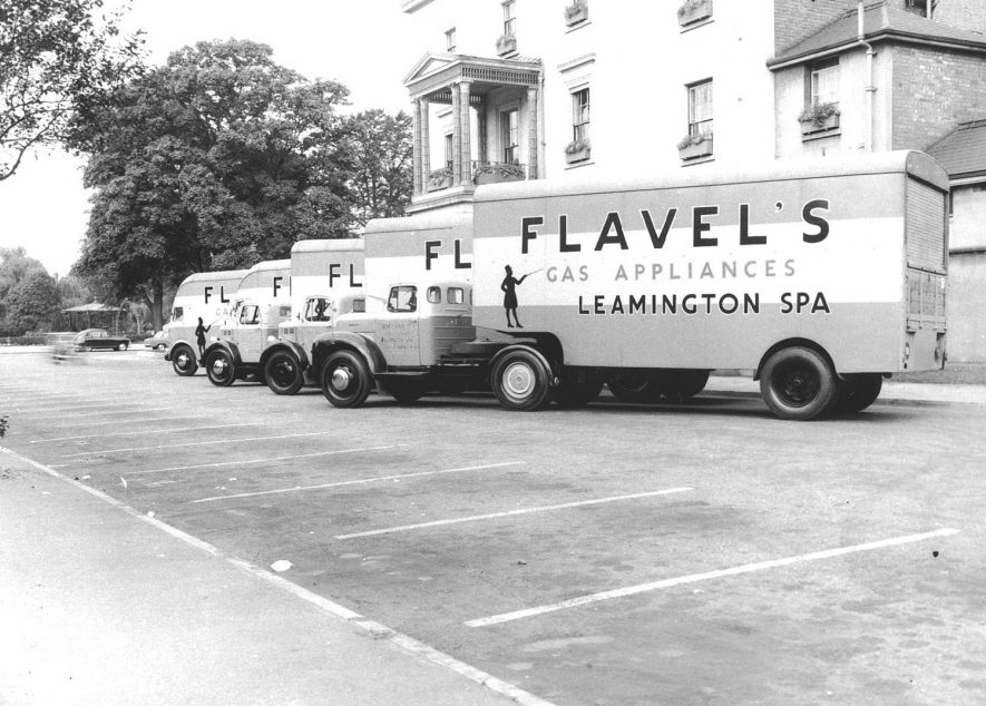 A group of Flavel's lorries, Leamington Spa.  1930s |  IMAGE LOCATION: (Warwickshire County Record Office)