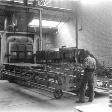 Leamington Spa.  Flavel's, furnace loader