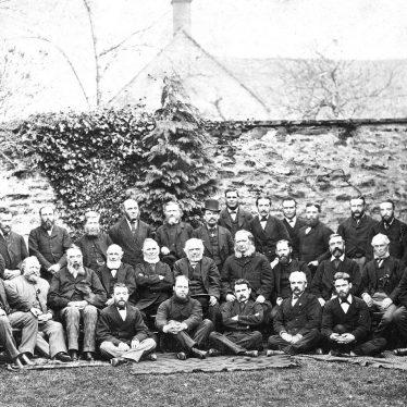 Leamington Spa.  Group of Methodist gentlemen