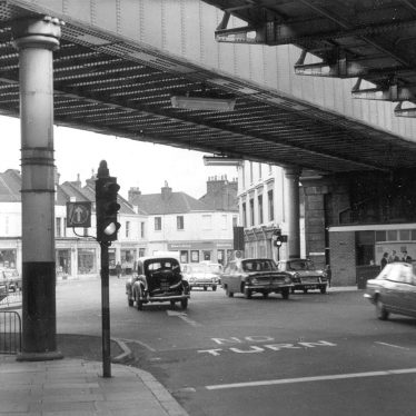 Leamington Spa.  High Street, railway bridges