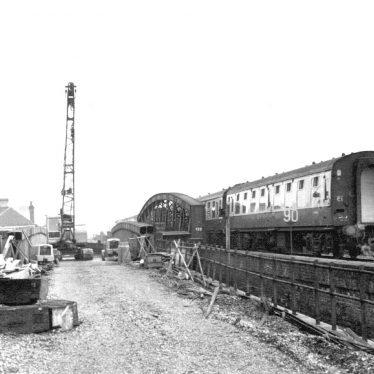 Leamington Spa.  Demolition of railway bridges