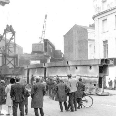 Leamington Spa.  High Street, demolition of bridges