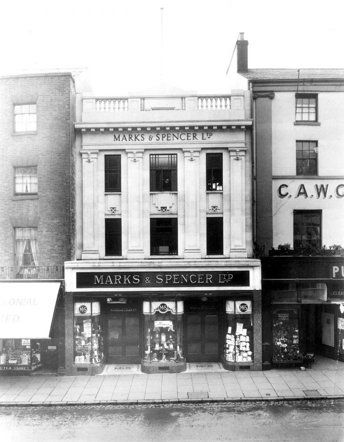 Marks & Spencer Ltd., 48-50, The Parade, Leamington Spa. Shop front.  1930s Early 1930s. |  IMAGE LOCATION: (Warwickshire County Record Office)