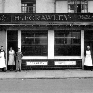 Leamington Spa.  H.J. Crawley, butcher