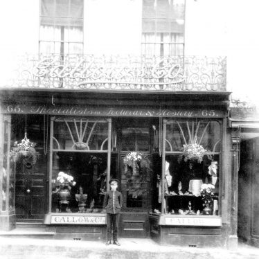 Leamington Spa.  Shop Front of Galloway & Co.