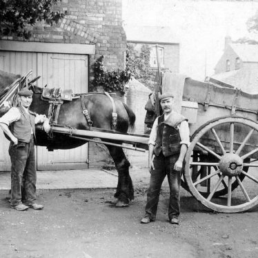 Leamington Spa.  Kenilworth Road, horse and cart