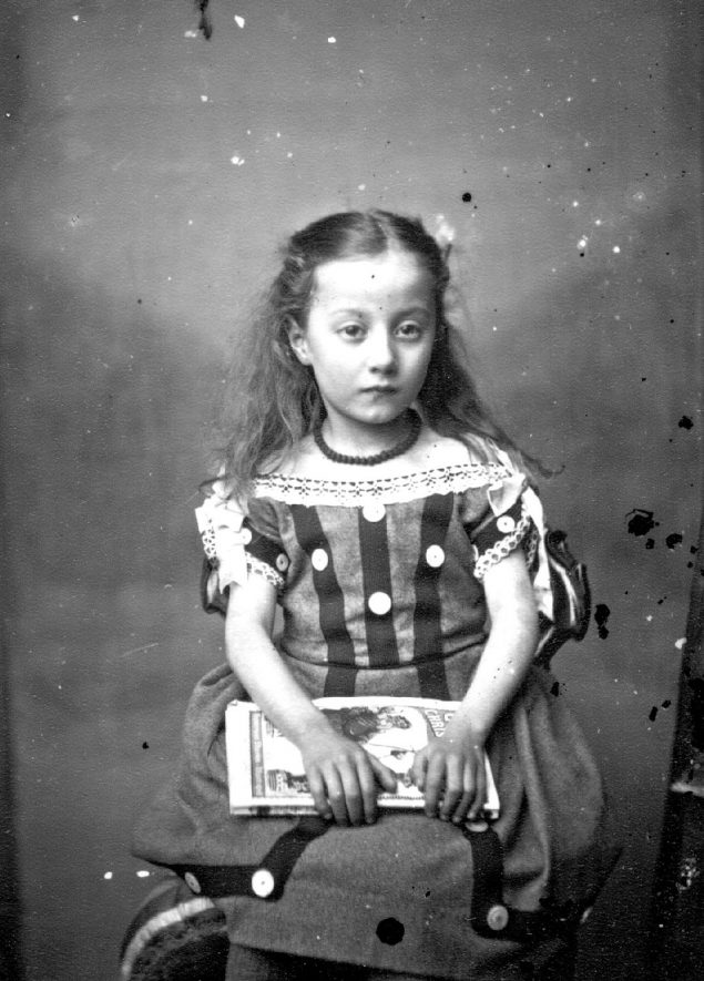 Portrait of a child with the surname Harris.  1883 |  IMAGE LOCATION: (Warwickshire County Record Office) PEOPLE IN PHOTO: Harris as a surname