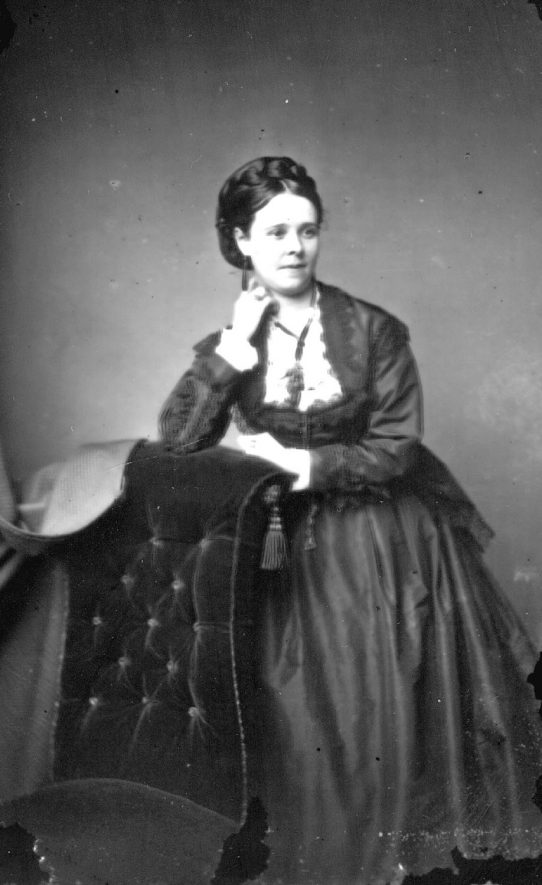 Portrait of a woman with the surname Shelley.  1873 |  IMAGE LOCATION: (Warwickshire County Record Office) PEOPLE IN PHOTO: Shelley as a surname