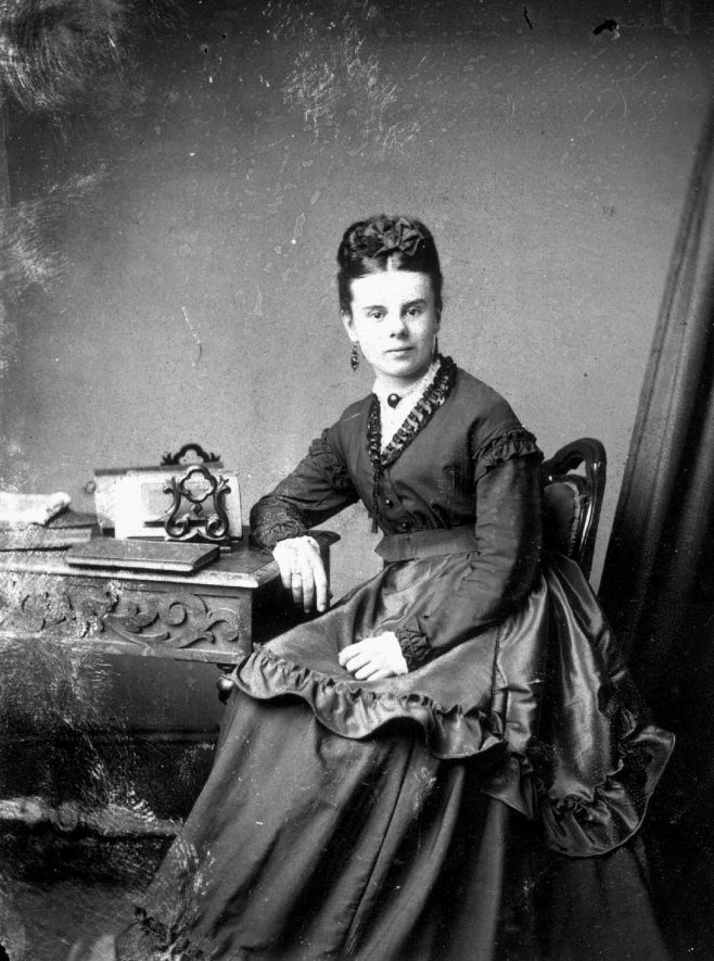 Portrait of a woman with the surname Waters.  1873 |  IMAGE LOCATION: (Warwickshire County Record Office) PEOPLE IN PHOTO: Waters as a surname