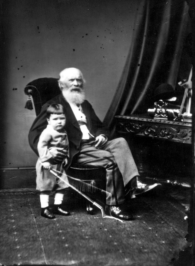 Portrait of a man and child with the surname Thomas.  1873 |  IMAGE LOCATION: (Warwickshire County Record Office) PEOPLE IN PHOTO: Thomas as a surname