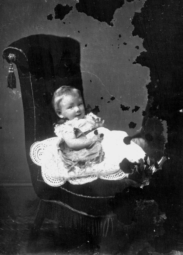 Portrait of a child with the surname Muntz.  1873 |  IMAGE LOCATION: (Warwickshire County Record Office) PEOPLE IN PHOTO: Muntz as a surname
