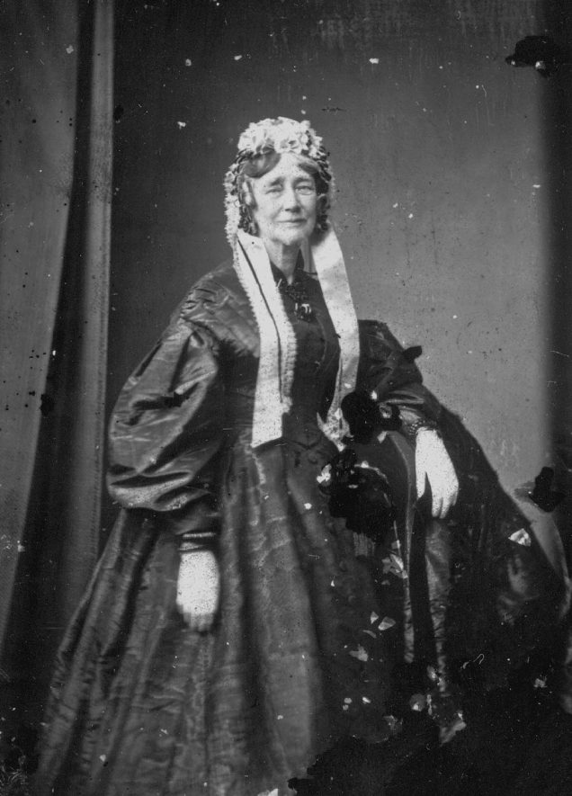 Portrait of a woman with the surname Sands.  1874 |  IMAGE LOCATION: (Warwickshire County Record Office) PEOPLE IN PHOTO: Sands as a surname