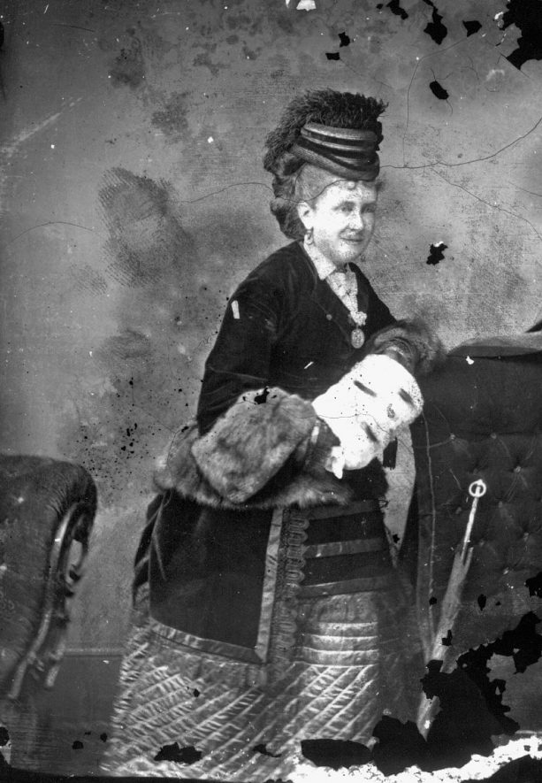 Portrait of a woman with the surname Sharpe.  1874 |  IMAGE LOCATION: (Warwickshire County Record Office) PEOPLE IN PHOTO: Sharpe as a surname