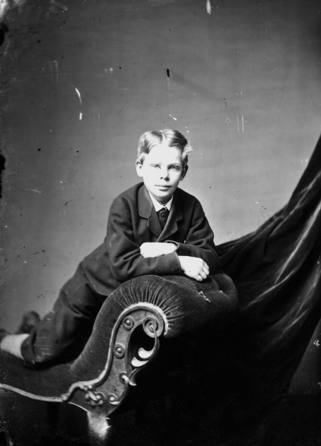 Portrait of a boy  with the surname Humphreys.  1874    IMAGE LOCATION: (Warwickshire County Record Office) PEOPLE IN PHOTO: Humphreys/Humphries as a surname