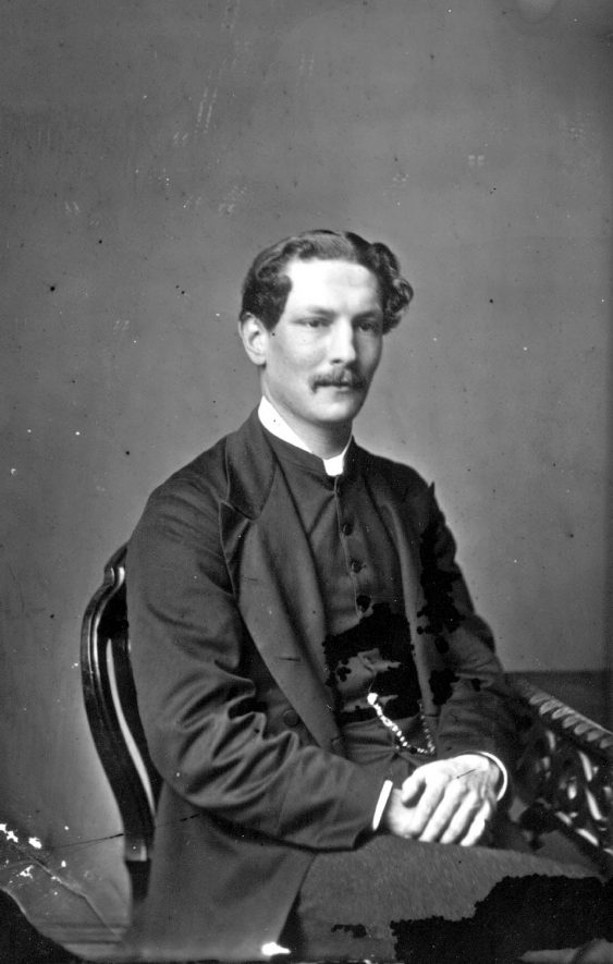 Portrait of a clergyman with the surname Rodwell.  1874    IMAGE LOCATION: (Warwickshire County Record Office) PEOPLE IN PHOTO: Rodwell as a surname