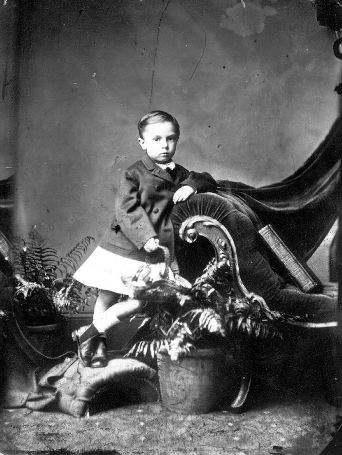 Portrait of a boy with the surname Hanbury.  1874    IMAGE LOCATION: (Warwickshire County Record Office) PEOPLE IN PHOTO: Hanbury as a surname