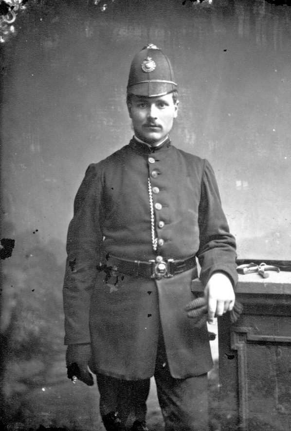 Portrait of a policeman with the surname St--k--.  1874 |  IMAGE LOCATION: (Warwickshire County Record Office)