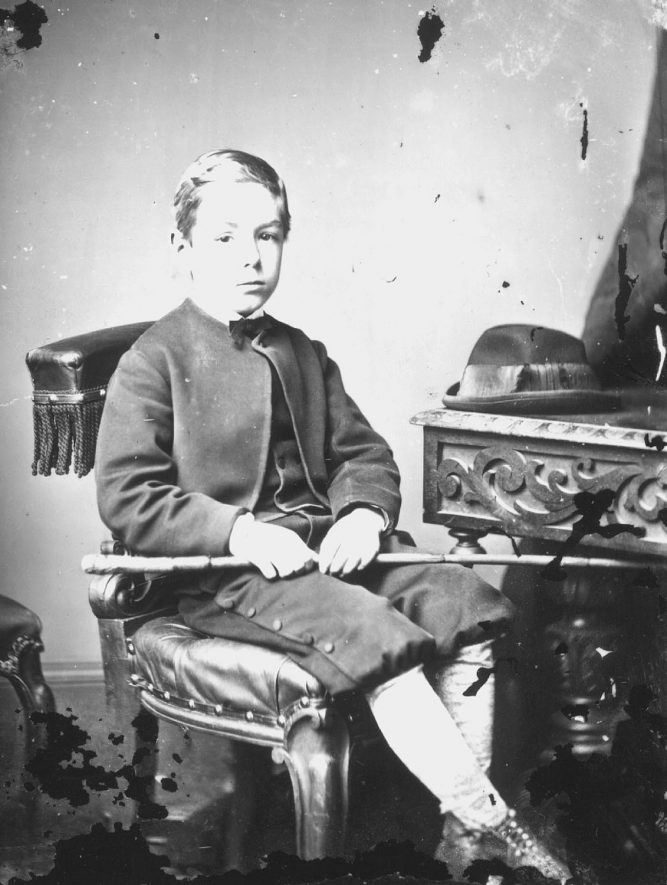 Portrait of a boy with the surname Bowyer.  1874 |  IMAGE LOCATION: (Warwickshire County Record Office) PEOPLE IN PHOTO: Bowyer as a surname