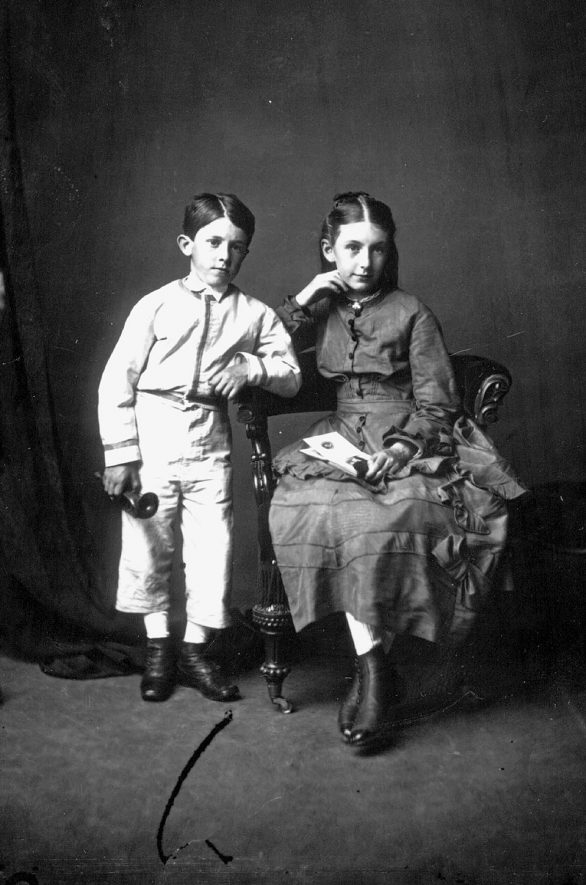 Portrait of two children with the surname Canning.  1875 |  IMAGE LOCATION: (Warwickshire County Record Office) PEOPLE IN PHOTO: Canning as a surname
