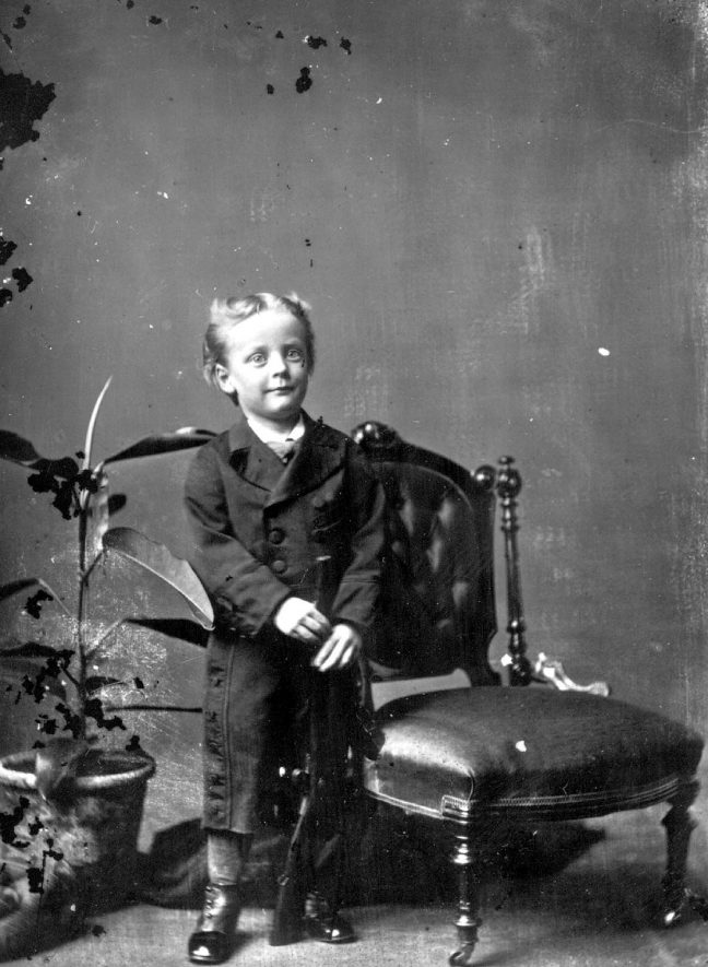 Portrait of a boy with the surname Boywer.  1875 |  IMAGE LOCATION: (Warwickshire County Record Office) PEOPLE IN PHOTO: Bowyer as a surname