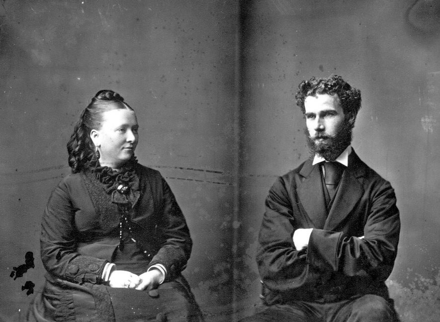 Portrait of a couple with the surname Law.  1876 |  IMAGE LOCATION: (Warwickshire County Record Office) PEOPLE IN PHOTO: Law as a surname