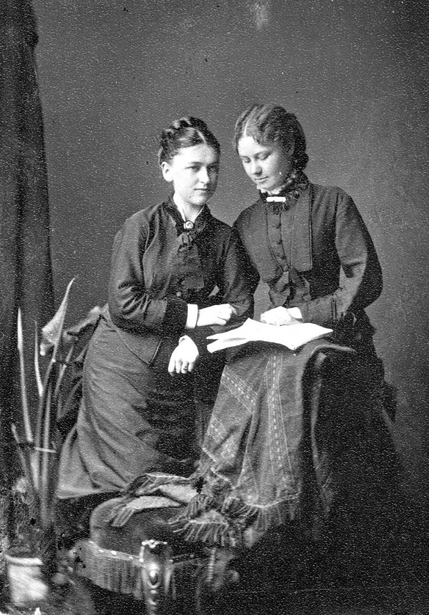 Portrait of two women with the surname Spedding.  1877 |  IMAGE LOCATION: (Warwickshire County Record Office) PEOPLE IN PHOTO: Spedding as a surname