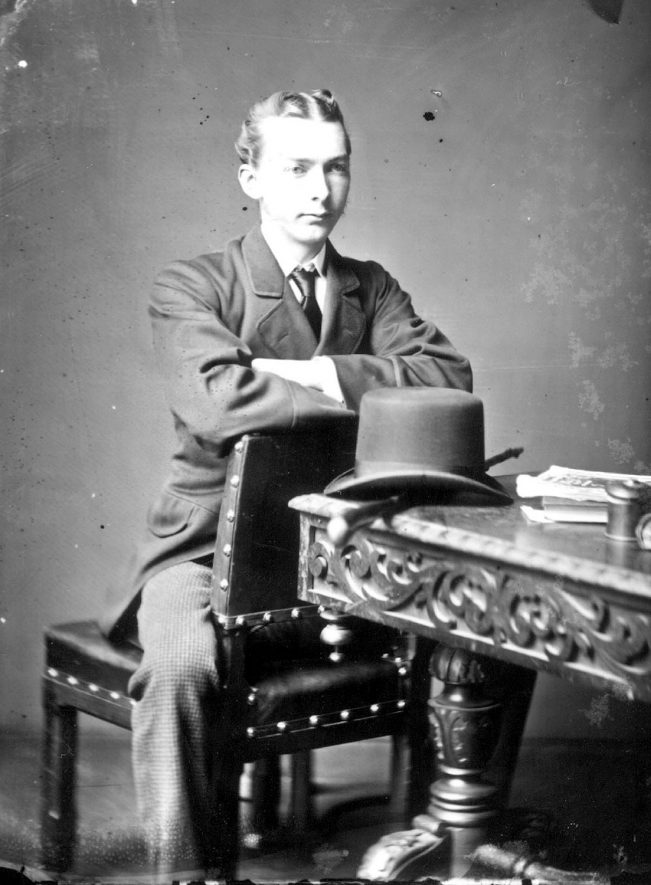 Portrait of a man with the surname Needle.  1877 |  IMAGE LOCATION: (Warwickshire County Record Office) PEOPLE IN PHOTO: Needle as a surname