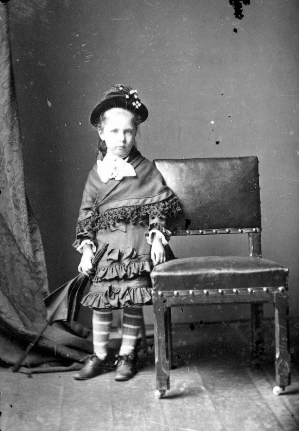 Portrait of a child with the surname Handbury.  1877 |  IMAGE LOCATION: (Warwickshire County Record Office) PEOPLE IN PHOTO: Handbury as a surname