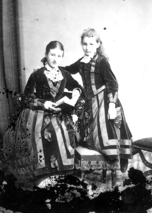Portrait of two young women with the surname Canning.  1877 |  IMAGE LOCATION: (Warwickshire County Record Office) PEOPLE IN PHOTO: Canning as a surname