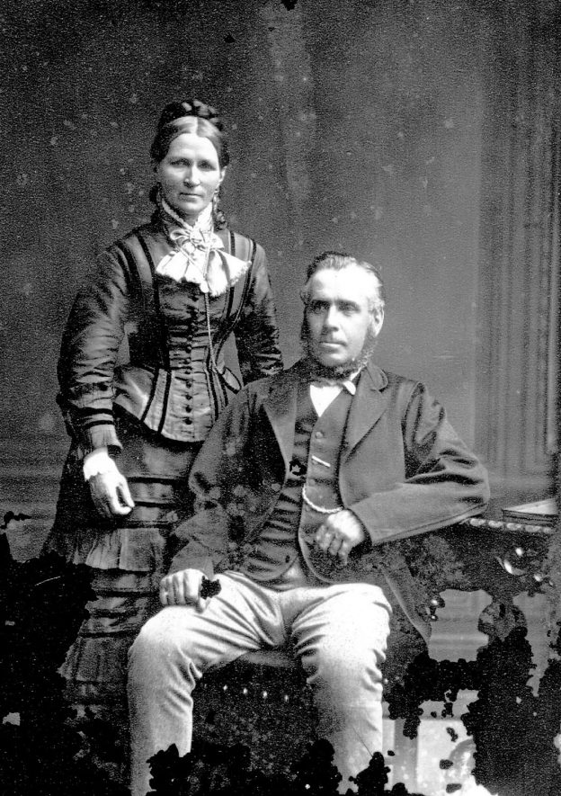 Portrait of a couple with the surname Fairweather.  1877 |  IMAGE LOCATION: (Warwickshire County Record Office) PEOPLE IN PHOTO: Fairweather as a surname