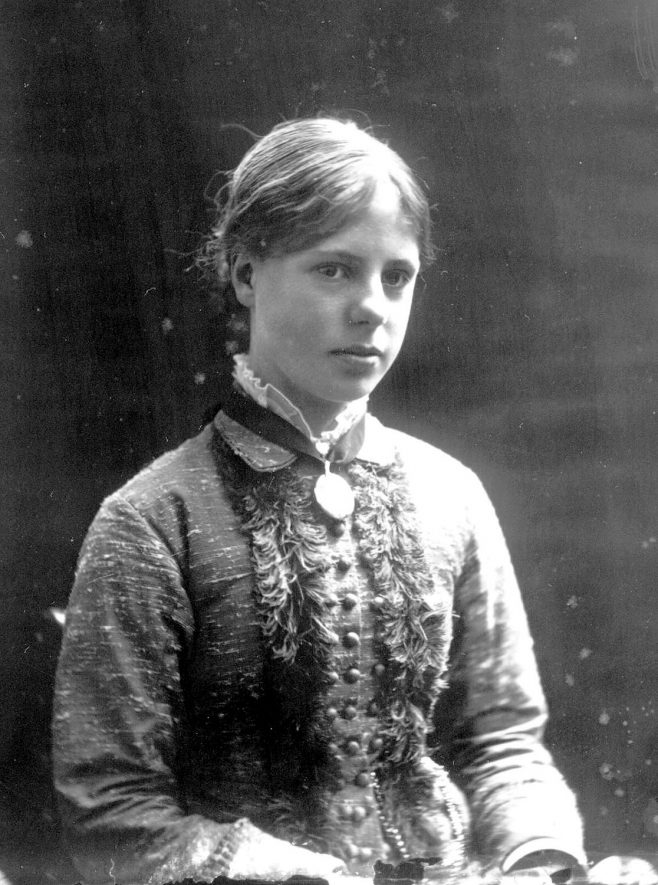 Portrait of a girl with the surname Claridge.  1879 |  IMAGE LOCATION: (Warwickshire County Record Office) PEOPLE IN PHOTO: Claridge as a surname
