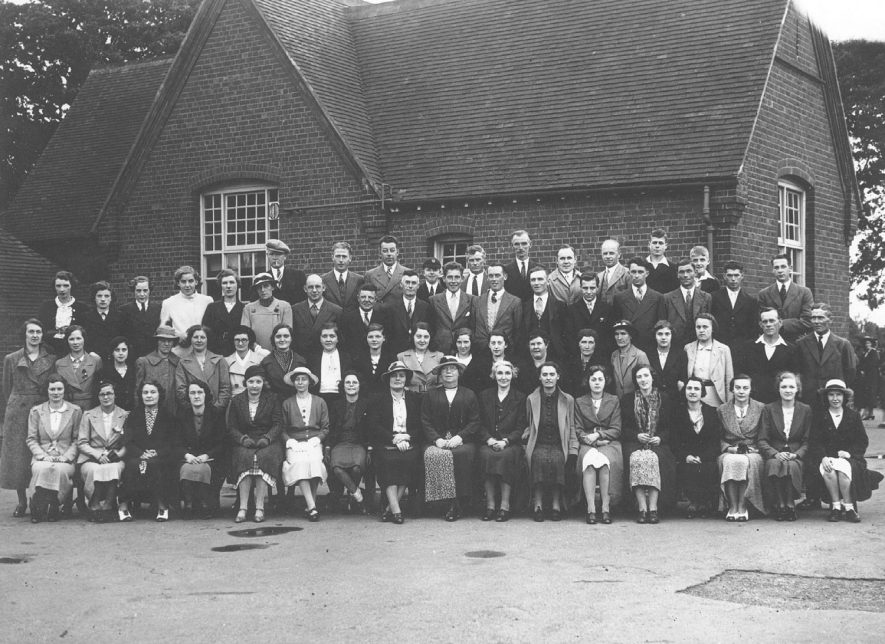 Beausale School, Old pupils at the retirement of Mrs Heath, former headmistress [governess].  1939 |  IMAGE LOCATION: (Warwickshire County Record Office) PEOPLE IN PHOTO: Heath, Mrs, Heath as a surname