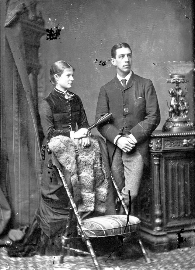 Portrait of a couple with the surname Ford.  1879 |  IMAGE LOCATION: (Warwickshire County Record Office) PEOPLE IN PHOTO: Ford as a surname