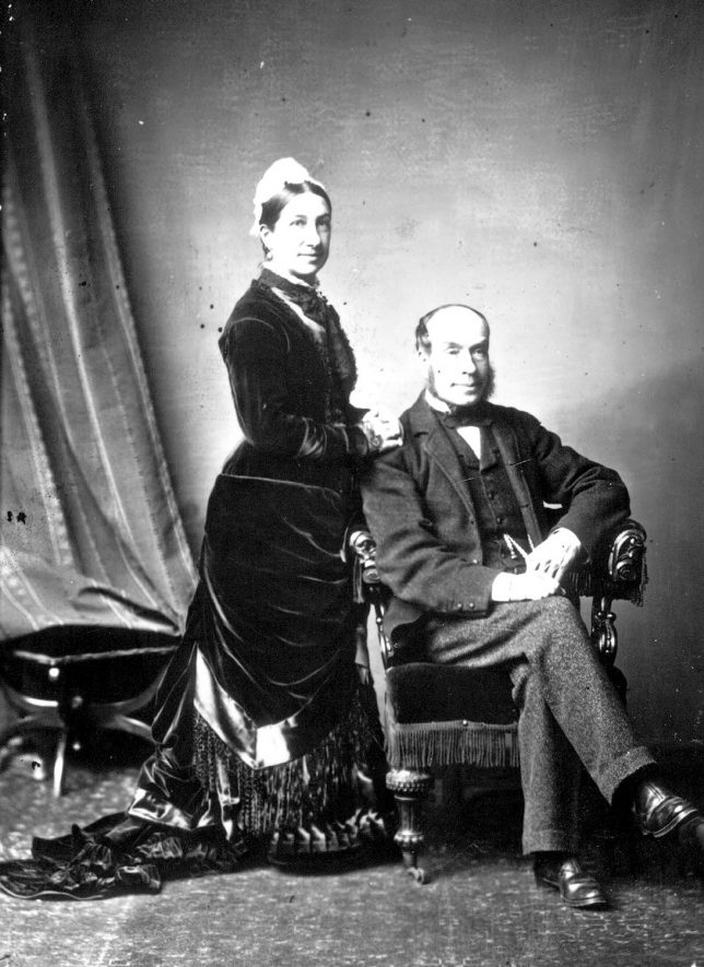 Portrait of a couple with the surname Wilson.  1883 |  IMAGE LOCATION: (Warwickshire County Record Office) PEOPLE IN PHOTO: Wilson as a surname