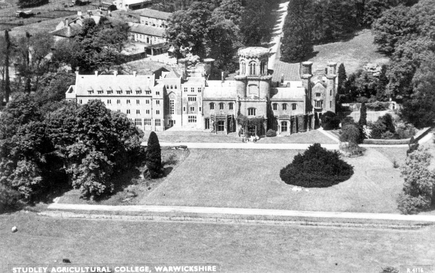 Studley agricultural college and grounds.  1950s |  IMAGE LOCATION: (Warwickshire County Record Office)