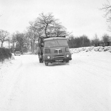 Ansley.  Piper's Lane, snow scene