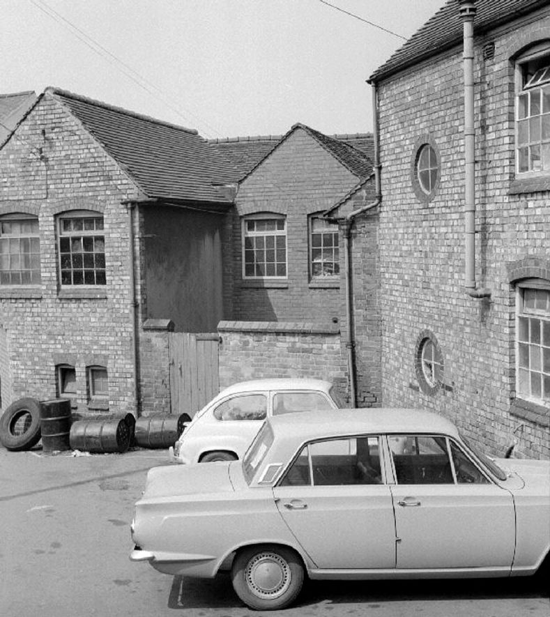 View of rear yard of The Nuneaton Observer works.  May 29th 1968 |  IMAGE LOCATION: (Warwickshire County Record Office)