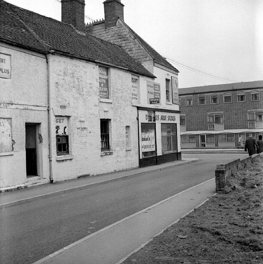 Meadow Street, looking toward Abbey Street, Nuneaton.  22 March 1969 |  IMAGE LOCATION: (Warwickshire County Record Office)