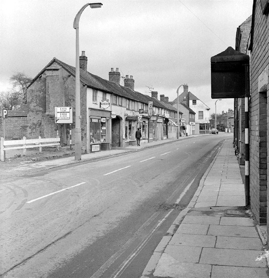 Bull Street, looking toward Attleborough Green, Nuneaton.  15 April 1969 |  IMAGE LOCATION: (Warwickshire County Record Office)