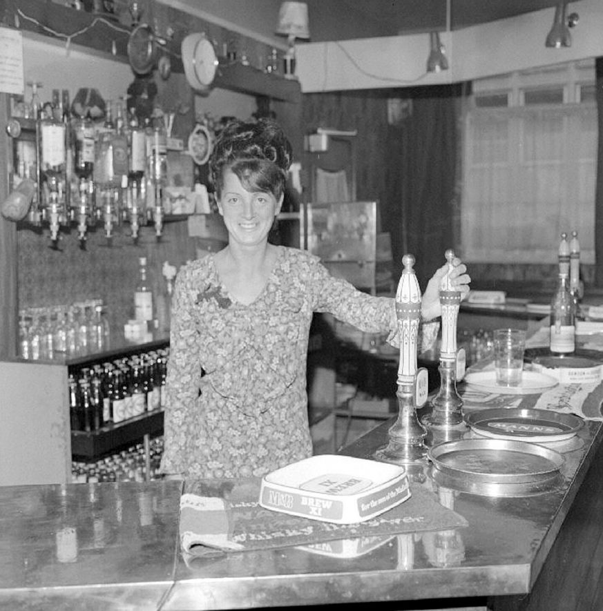 Miss Josie Edwards, barmaid at the