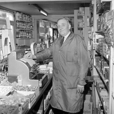 Nuneaton.  Jack Warren in his sweet shop