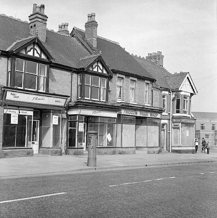 Shops and properties in Coton Road, between Edward Street and Coton Arches, Nuneaton, just prior to their demolition.  April 11th 1971 |  IMAGE LOCATION: (Warwickshire County Record Office)
