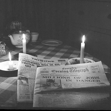 Nuneaton.  Candlelight pictures during a power cut