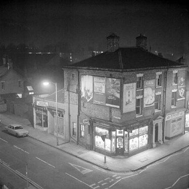 Nuneaton.  Night scene