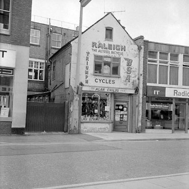 Nuneaton.  Alan Child's cycle shop