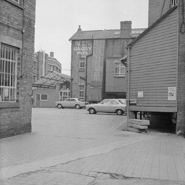Nuneaton.  Co-operative Society bakery before demolition