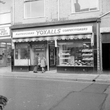 Nuneaton.  Yoxall's cafe and cake shop