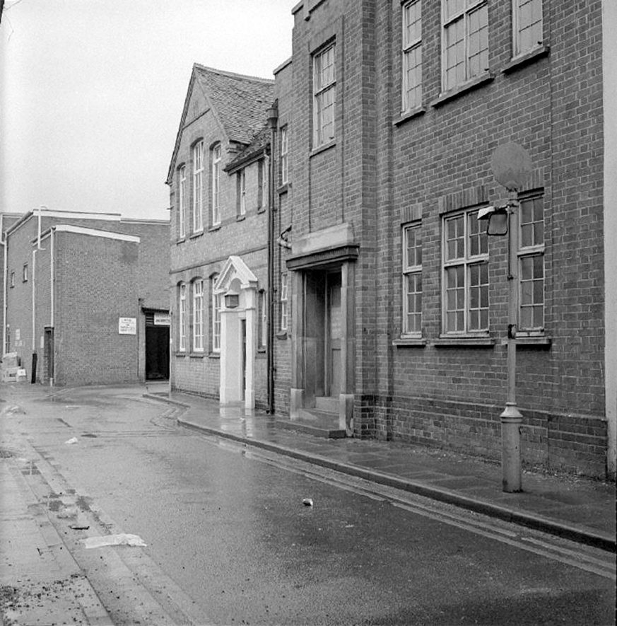 The Masonic Hall in Newdegate Place, Nuneaton.  January 12th 1975 |  IMAGE LOCATION: (Warwickshire County Record Office)