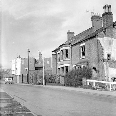 Nuneaton.  Victoria Street houses before demolition